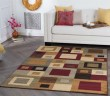 Product Image of Red, Brown, Beige Contemporary / Modern Area Rug
