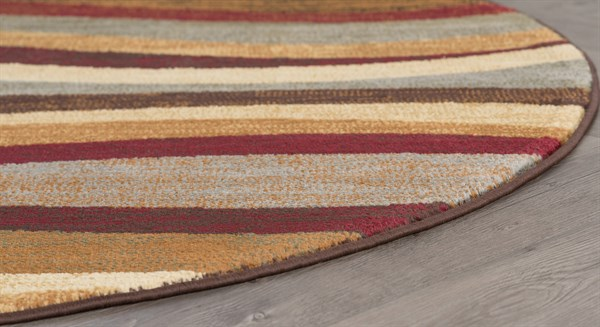 Red, Brown, Beige Contemporary / Modern Area Rug