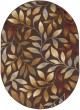 Product Image of Brown, Red, Gold Floral / Botanical Area Rug