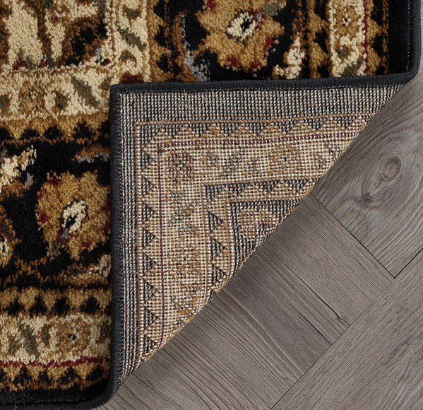 Black, Red, Gold, Blue, Tan, Beige, Ivory Traditional / Oriental Area Rug