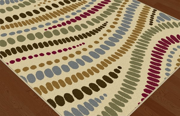 Beige, Red, Black (LGN-4512) Abstract Area Rug