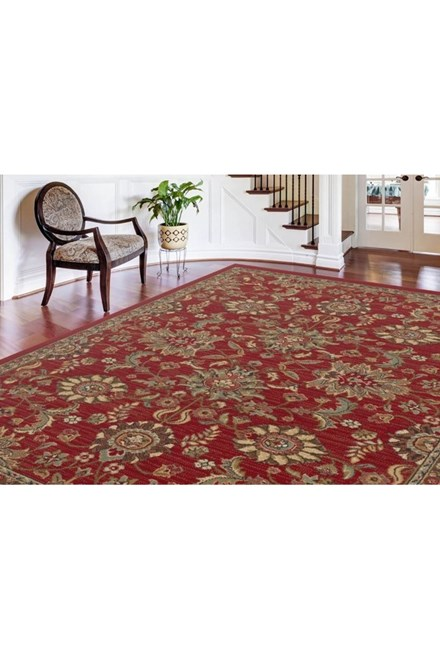 Red, Beige, Gold (LGN-4590) Traditional / Oriental Area Rug