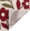 Product Image of Beige, Red, Blue-Grey (LGN-4542) Floral / Botanical Area Rug