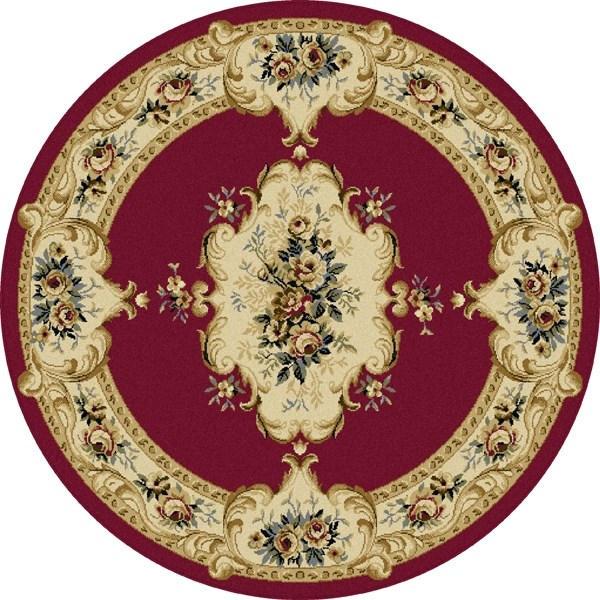 Red, Beige, Green (LGN-4610) Traditional / Oriental Area Rug