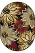Product Image of Black, Red, Blue (LGN-4983) Floral / Botanical Area Rug