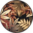 Product Image of Black, Green, Red (LGN-4993) Floral / Botanical Area Rug