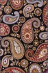 Product Image of Black, Brown, Red Paisley Area Rug