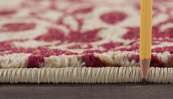 Beige, Red, Brown Moroccan Area Rug