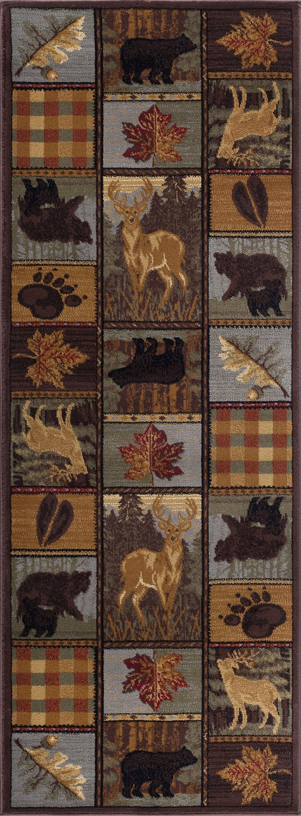 Beige, Green Animals / Animal Skins Area Rug
