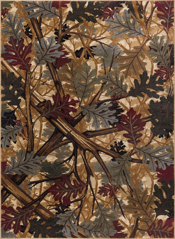 Beige, Brown Floral / Botanical Area Rug