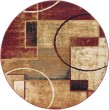 Product Image of Red, Ivory, Gold Contemporary / Modern Area Rug
