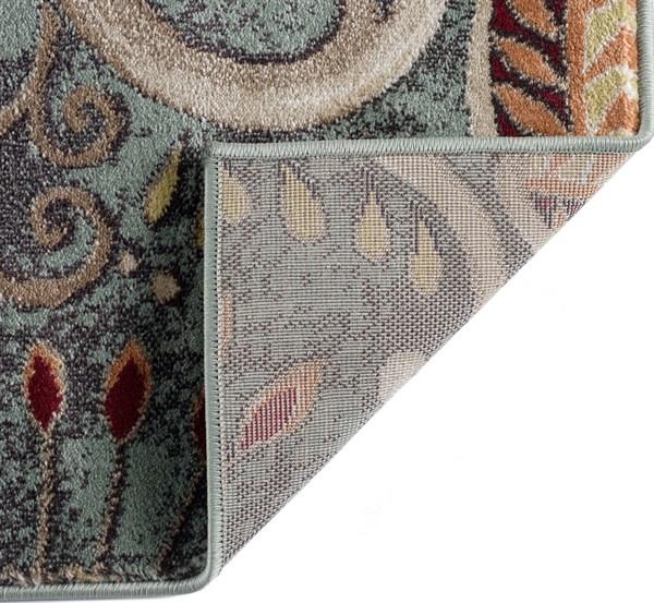 Green, Beige Traditional / Oriental Area Rug