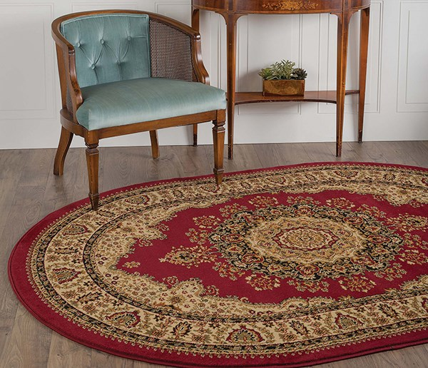 Red (4700) Traditional / Oriental Area Rug