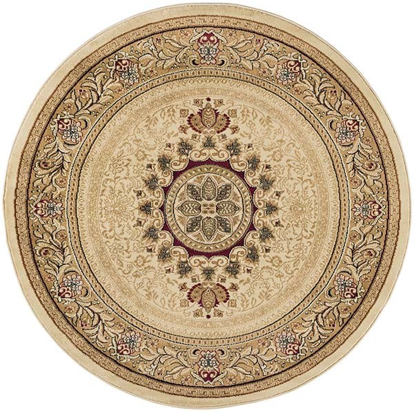 Ivory, Red, Black (SNS-4672) Traditional / Oriental Area Rug