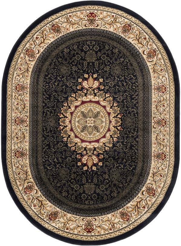 Black (4673) Traditional / Oriental Area Rug