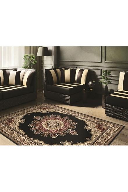 Black (4703) Traditional / Oriental Area Rug