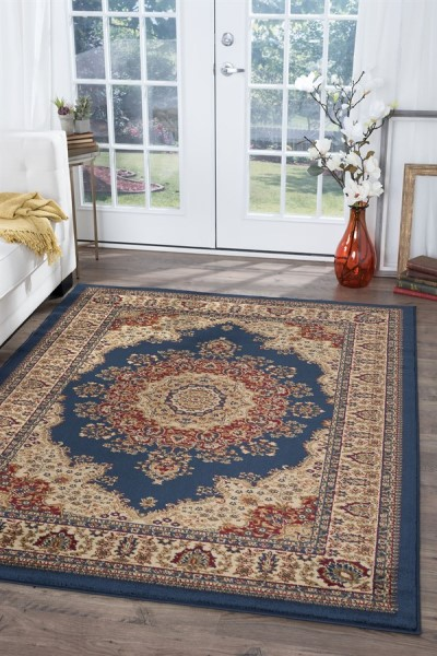 Navy (4707) Traditional / Oriental Area Rug