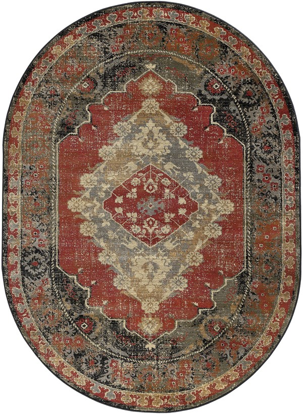 Red (4900) Traditional / Oriental Area Rug