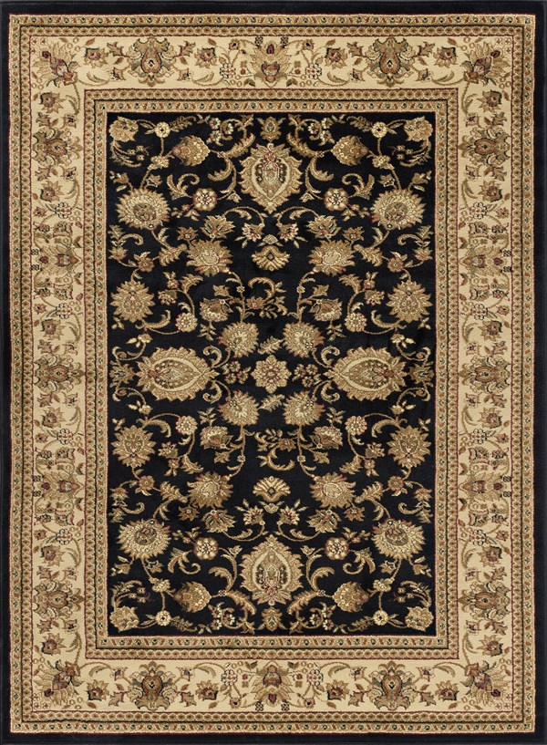 Black (4723) Traditional / Oriental Area Rug