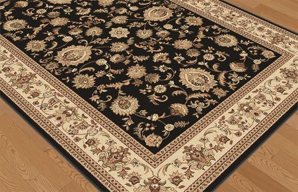 Black (4723) Traditional / Oriental Area Rug