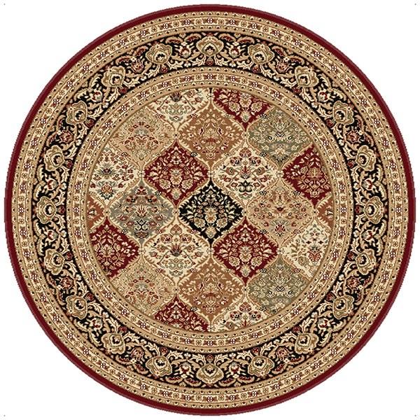 Red, Beige, Black (4770) Traditional / Oriental Area Rug