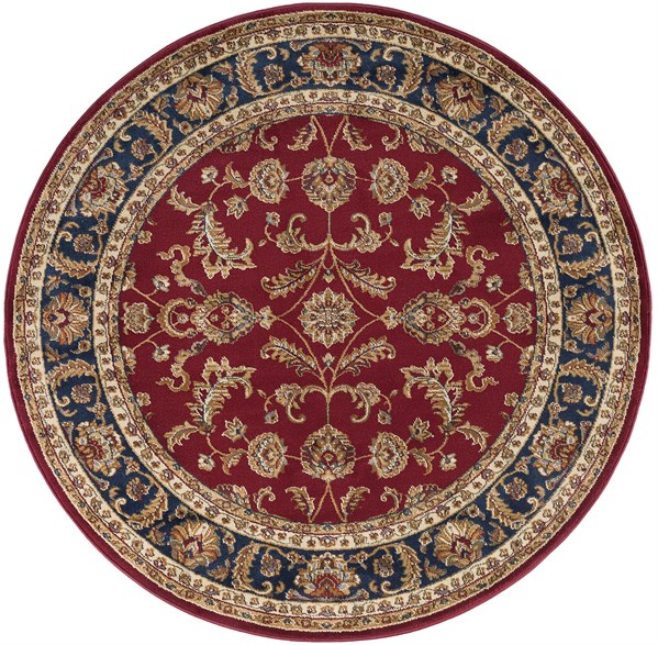 Red, Beige, Navy (4790) Traditional / Oriental Area Rug