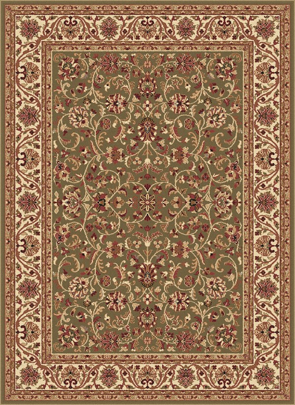 Green (4815) Traditional / Oriental Area Rug