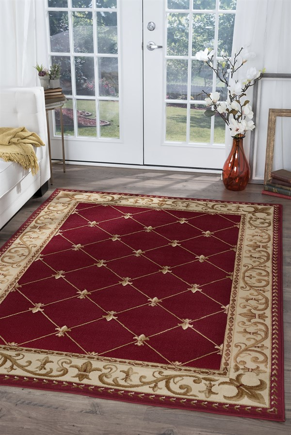 Red (SNS-4880) Traditional / Oriental Area Rug