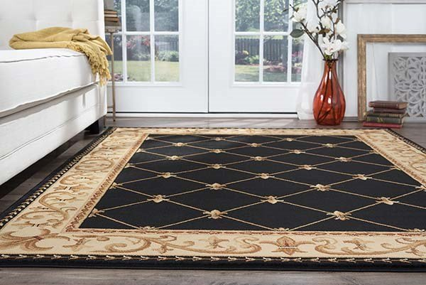 Black (SNS-4883) Traditional / Oriental Area Rug