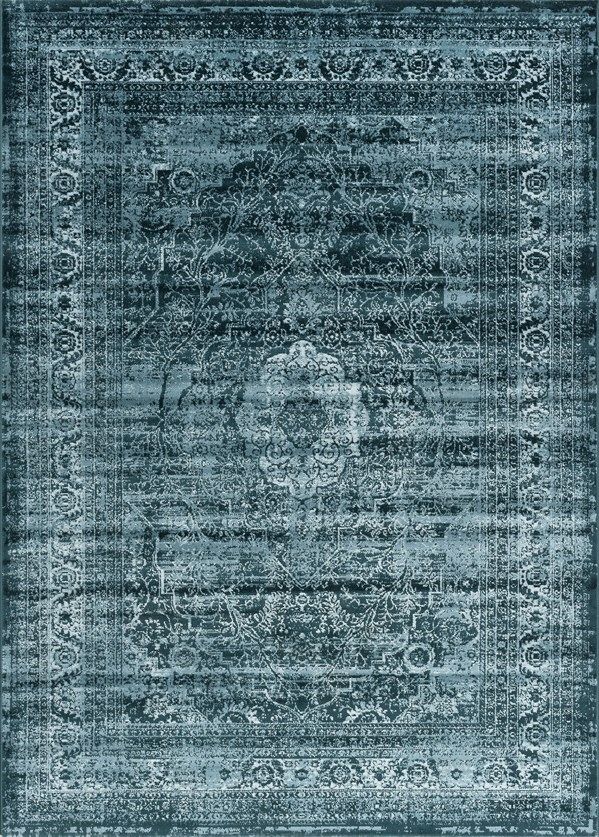 Blue, Blue Transitional Area Rug
