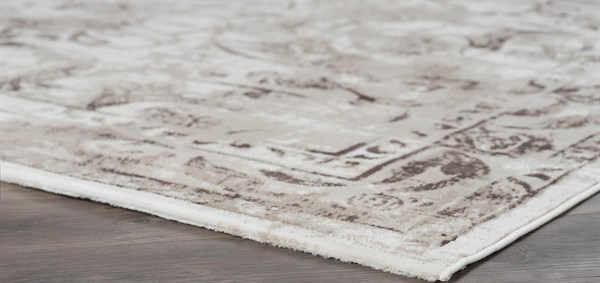 Beige, Taupe Transitional Area Rug