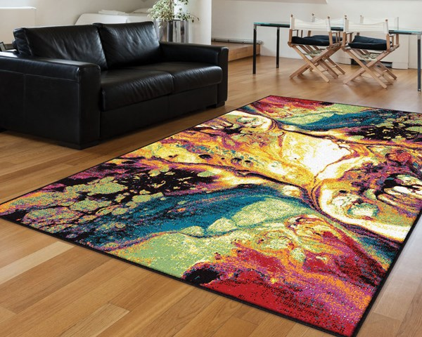 Blue, Green, Red, Magenta (SMP-1004) Abstract Area Rug