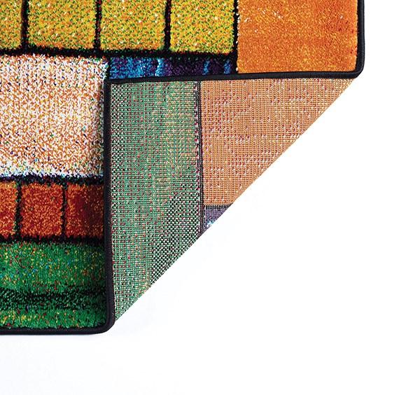 Red, Orange, Blue  Geometric Area Rug