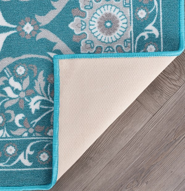 Teal (MJS-3415) Moroccan Area Rug