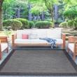 Product Image of Black, Grey (SRN-1003) Outdoor / Indoor Area Rug