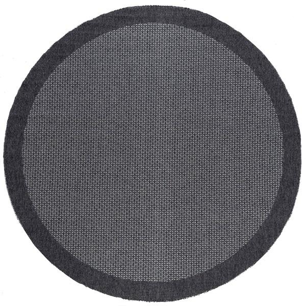 Black, Grey (SRN-1003) Outdoor / Indoor Area Rug