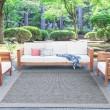 Product Image of Gray, Black (SRN-1018) Outdoor / Indoor Area Rug