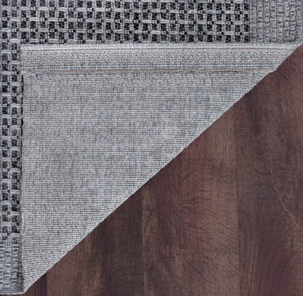 Gray, Black (SRN-1018) Outdoor / Indoor Area Rug