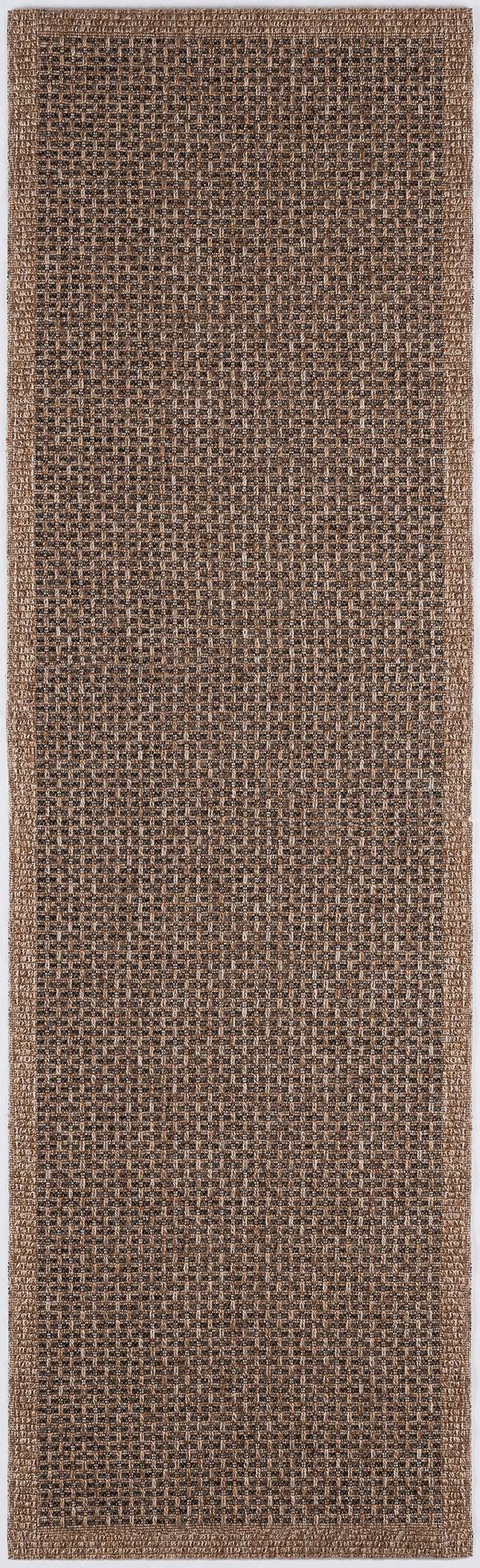 Natural Beige, Black (SRN-1022) Outdoor / Indoor Area Rug