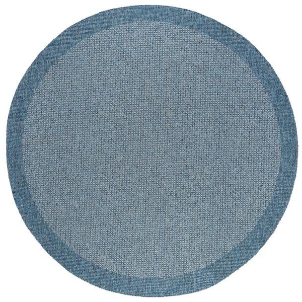Blue, Gray (SRN-1027) Outdoor / Indoor Area Rug