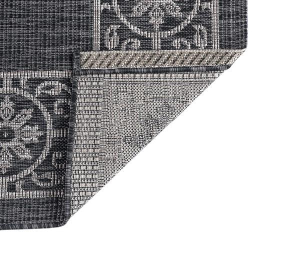 Black, Light Gray (VND-1803) Bordered Area Rug