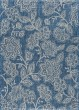 Product Image of Floral / Botanical Indigo, Light Gray (VND-1214) Area Rug