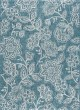 Product Image of Floral / Botanical Aqua, Light Gray (VND-1219) Area Rug