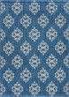 Product Image of Contemporary / Modern Indigo, Light Gray (VND-1514) Area Rug