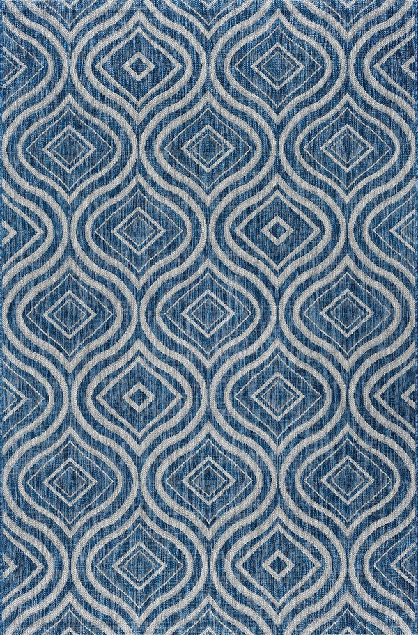 Indigo, Light Gray (VND-1714) Moroccan Area Rug