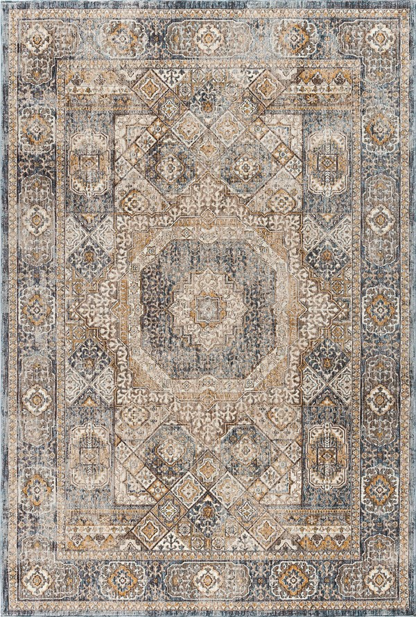 Navy (FVW-3107) Traditional / Oriental Area Rug