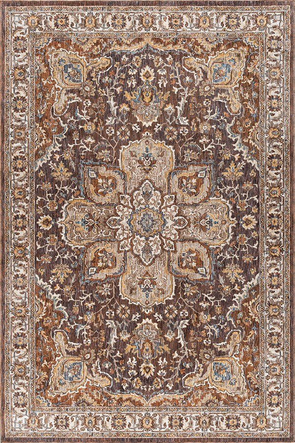 Brown, Tan (FVW-3301) Traditional / Oriental Area Rug