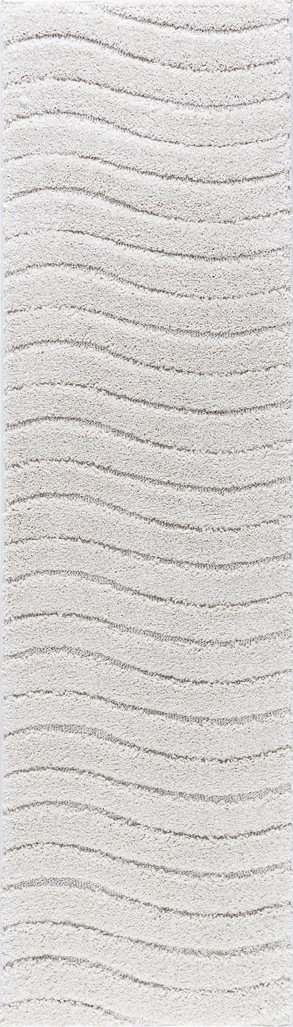 Cream (BRK-1317) Shag Area Rug