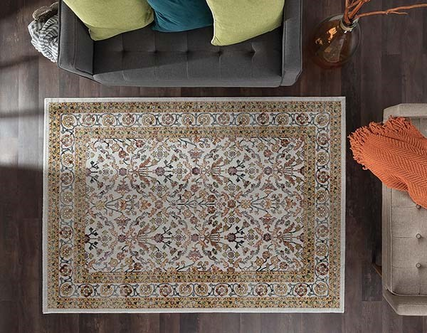 Beige (MLN-4321) Traditional / Oriental Area Rug
