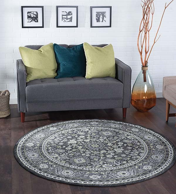 Gray (MLN-4409) Traditional / Oriental Area Rug